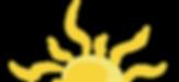 faded sun, sun logo, half sun