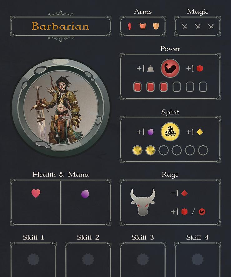 Barbarian Class Card