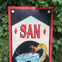 SAN SIMON HANGING SIGN