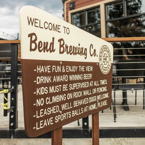 BEND BREWING CO. FOREST SERVICE SIGN
