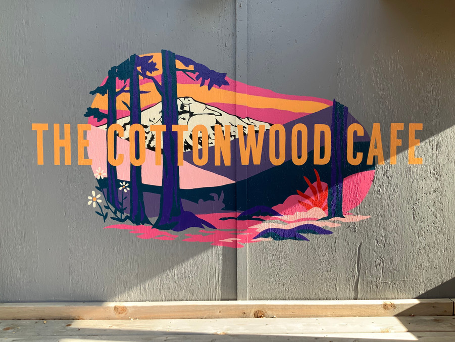 Cottonwood Cafe Patio Sign