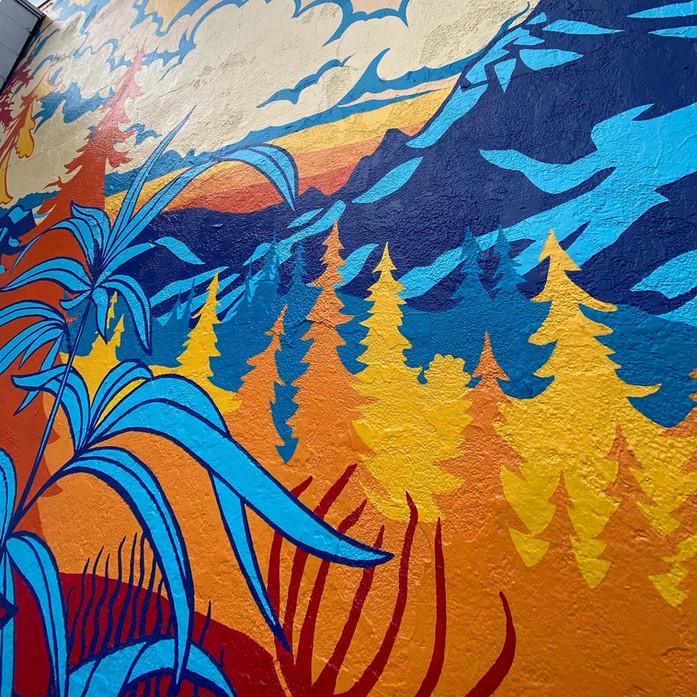 Dr. Jollys Mural Close up-plants