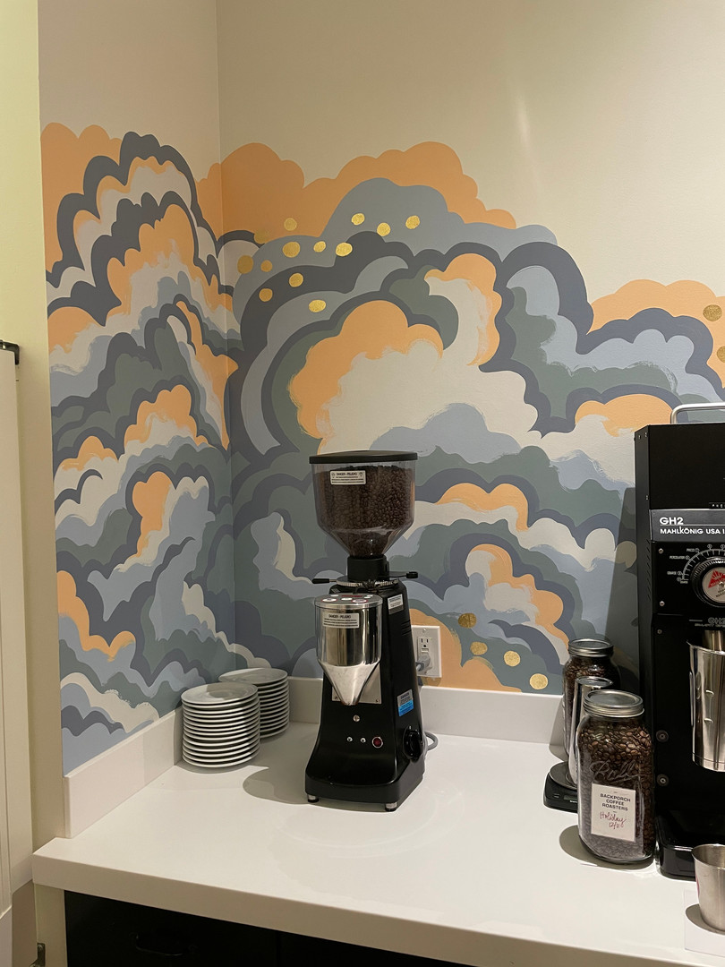 Clouds Mural Corner