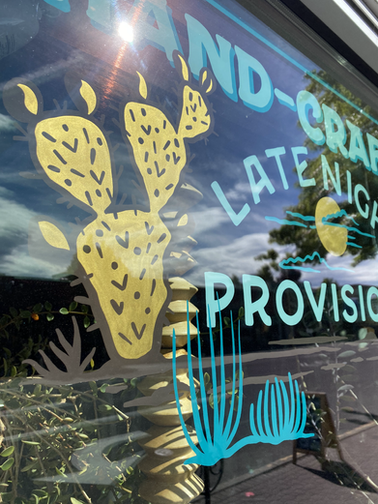 VELVET LOUNGE REVERSE GLASS WINDOW GRAPHICS