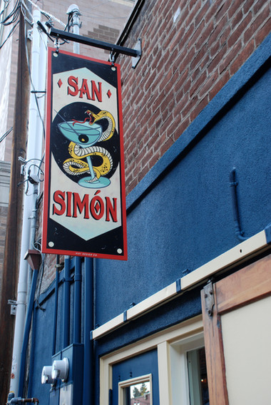 SAN SIMON FLAG SIGN RIGHT SIDE