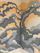 Corner Close up of Cloud Mural