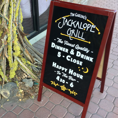 JACKALOPE GRILL A-FRAME SIGN