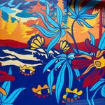 Dr. Jollys Mural Close up- cannabis leav