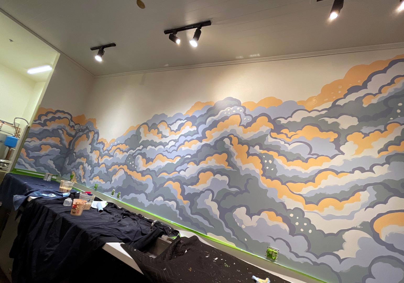 Vivi Design Co. Mural in Progress