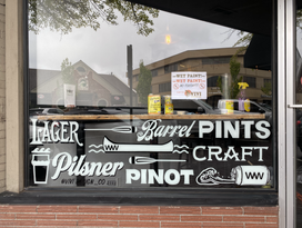 WHITE WATER TAP HOUSE WINDOW GRAPHICS
