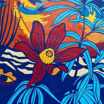 Dr. Jollys Mural Close up- Flower