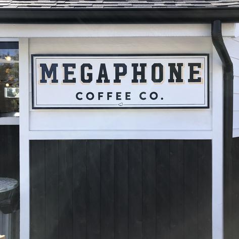 MEGAPHONE EXTERIOR FRAMED SIGN