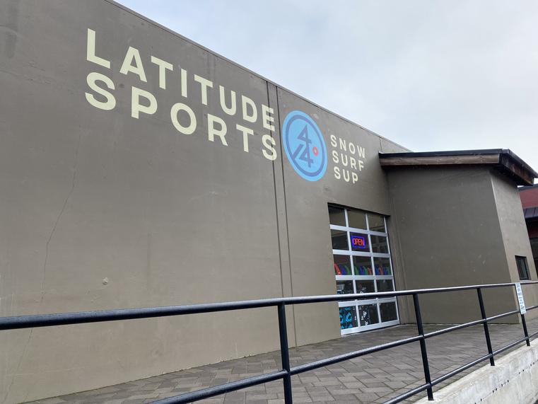 LATITUDE 44 SPORTS LARGE EXTERIOR WALL SIGN