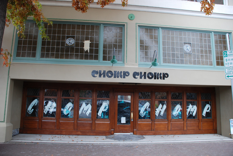 CHOMP CHOMP WINDOW LETTERS, ILLUSTRATION AND SIGN