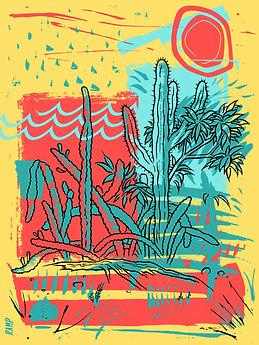 Palo Alto Cactus Poster