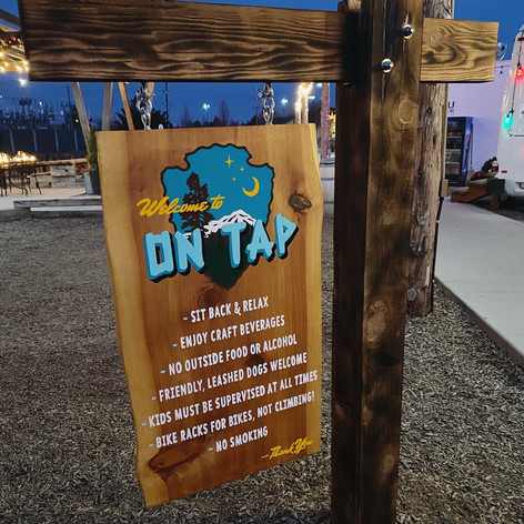 ON TAP HANGING SIGN