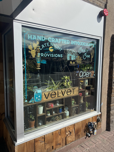 VELVET LOUNGE REVERSE GLASS WINDOW GRAPHICS