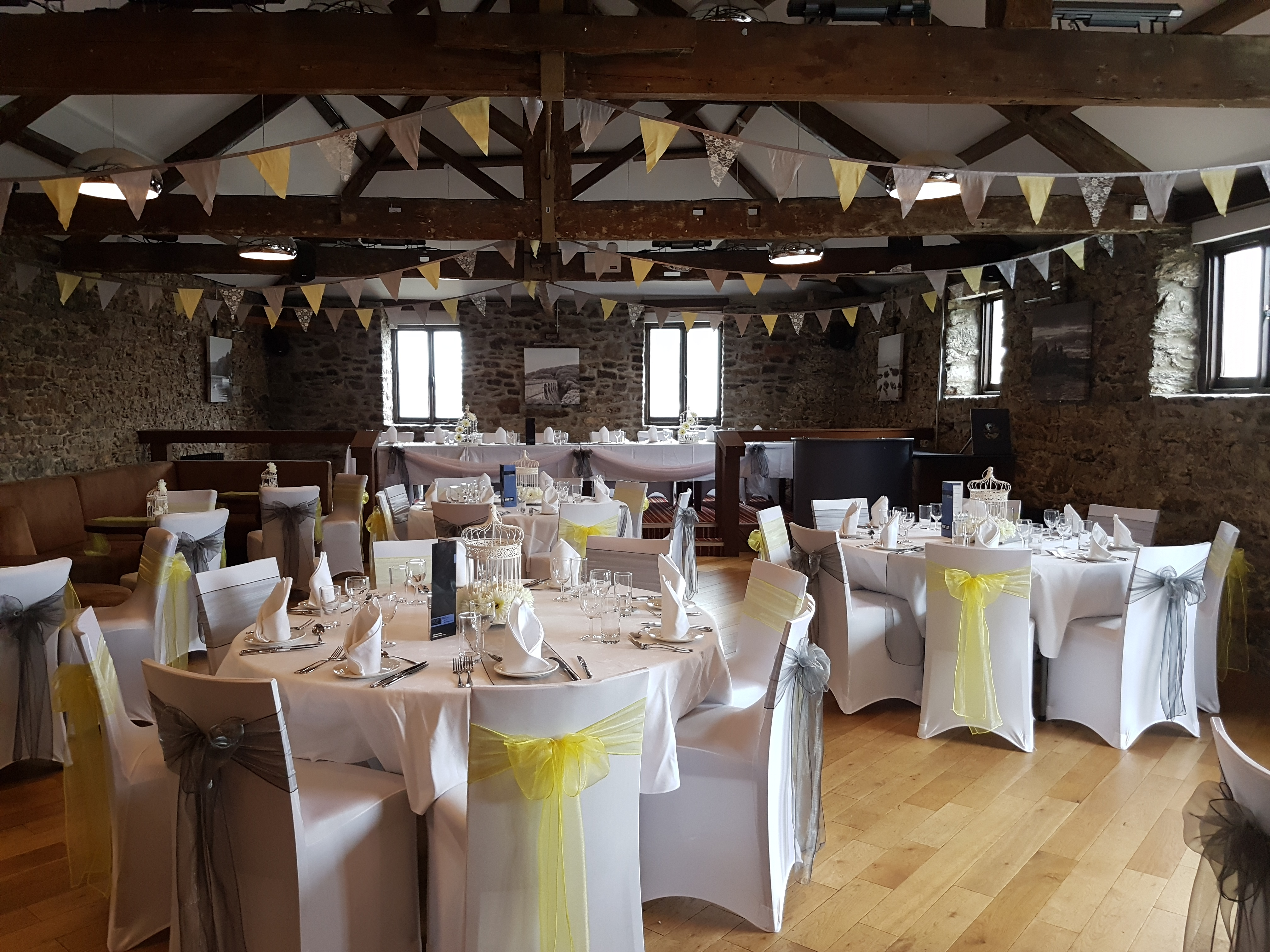 Yellow & grey themed wedding