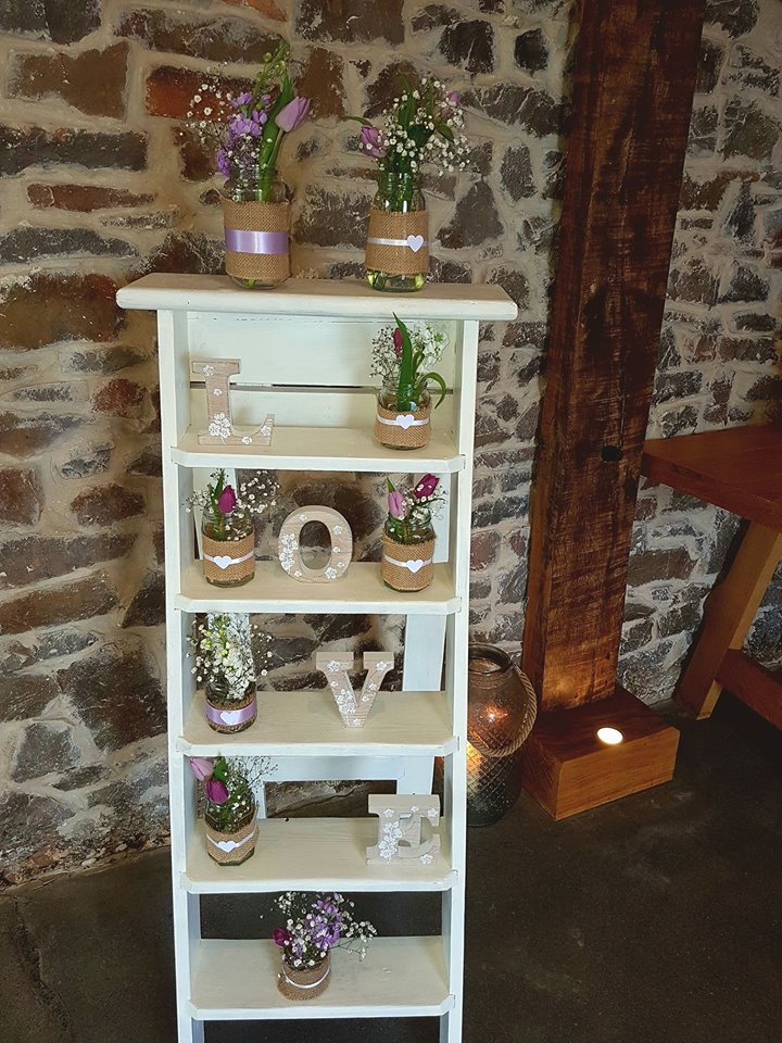 Wedding vintage step ladder & props