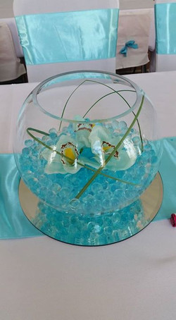 Fishbowl centrepiece with Gel balls