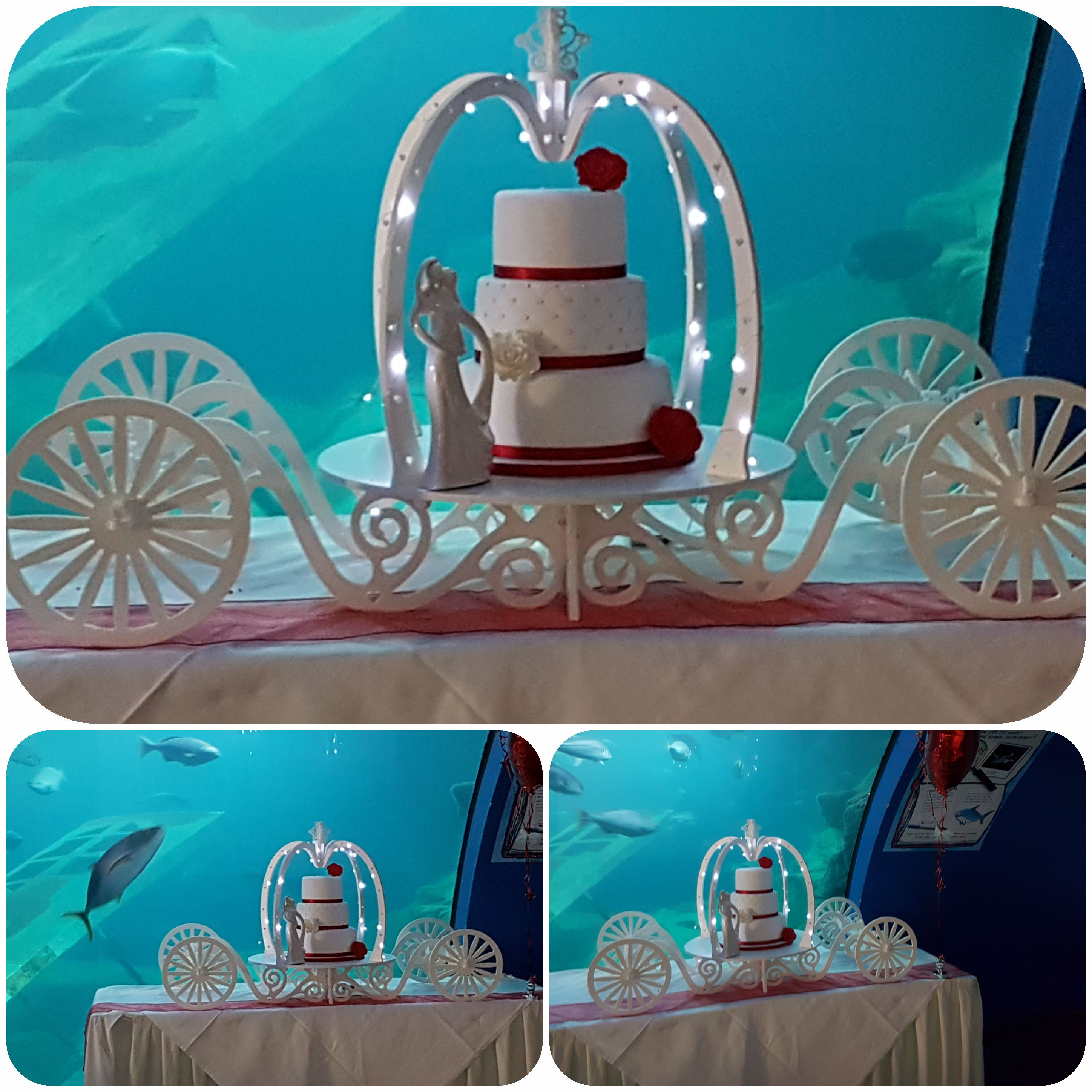 Princess carriage cake stand