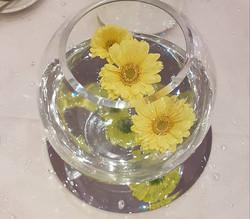 Fishbowl centrepiece