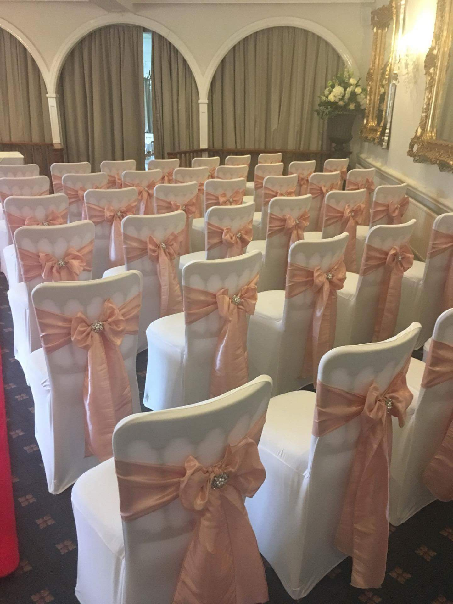 sh pink satin sashes