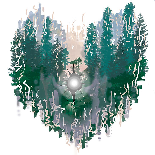 """""""Forest Heart"""" Print"""