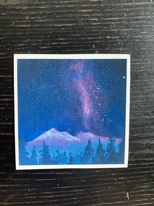 Starry Mt. Shasta Sticker