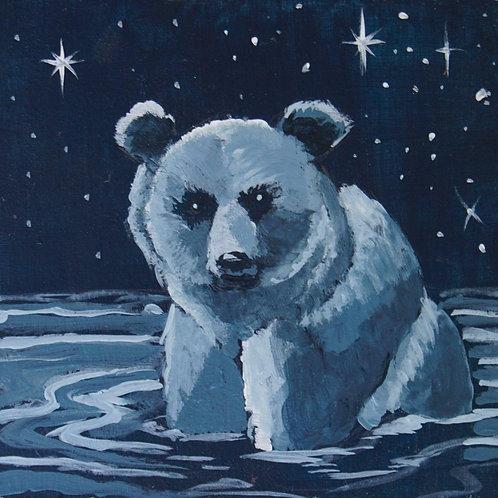 Spirit Bear Original Acrylic Painting