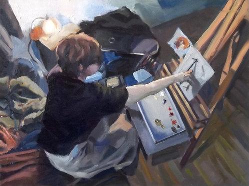 """""""In The Studio"""" Print"""