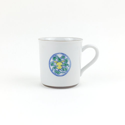 [63006]マグカップ 草獣文・兎・上絵【5月17日(月)より順次発送】