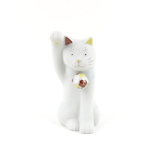 [8102] 窯まつり限定ちょうえもん招猫 花鈴(赤/右手)【10月20日順次発送】