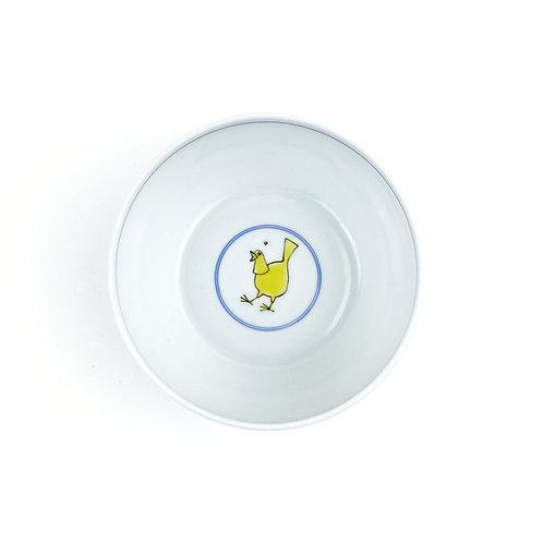 [20004] 太鼓型小鉢 鳩に豆鉄砲・黄色【5月17日(月)より順次発送】