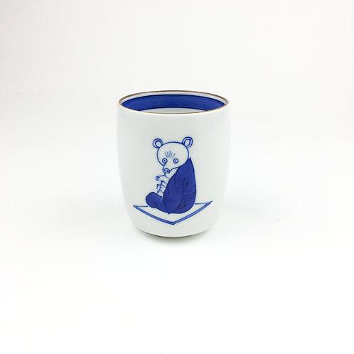 [2001]窯まつり限定湯呑 笛吹 熊・白【2月12日(金)より順次発送】