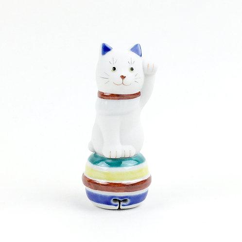[81001]ちょうえもん招猫二寸鈴乗り 独楽鈴(こますず)・左手【5月17日(月)より順次発送】