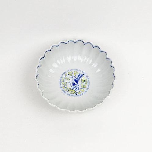 [2104] 菊割小鉢 セキレイ(紺)【10月8日より順次発送】