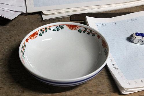[27001] 四寸五分平鉢 赤絵花【5月17日(月)より順次発送】