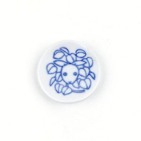 [60003]丸箸置 草獣文・兎・染付【5月17日(月)より順次発送】
