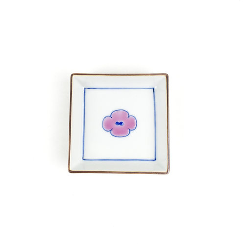 """[35005]角小皿 長右衛門""""C""""・ピンク【5月17日(月)より順次発送】"""