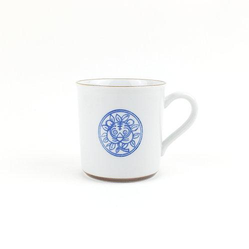[63007]マグカップ 草獣文・虎・染付【5月17日(月)より順次発送】