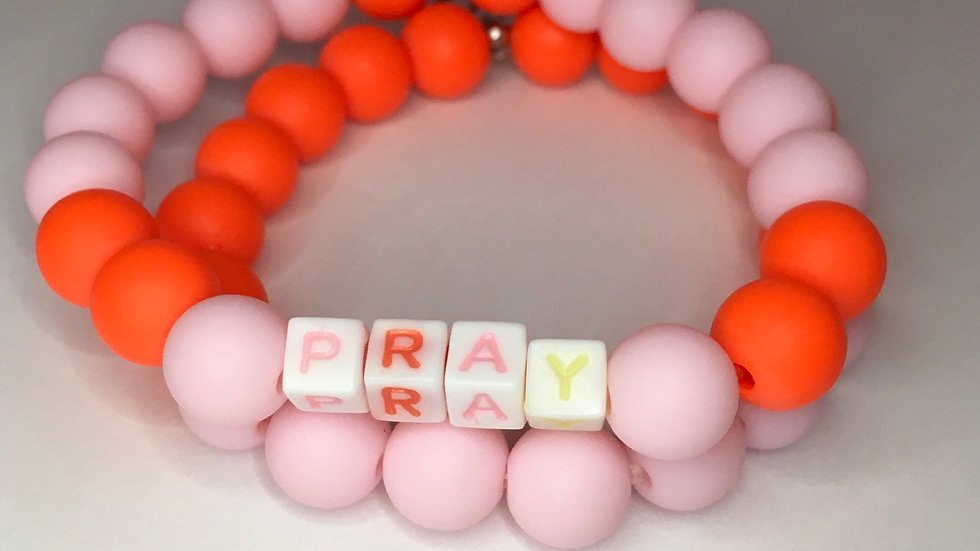 Pray Orange and Pink