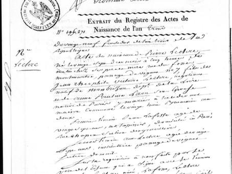Glanes historiques : naissance du fils de Théophile Leclerc et de Pauline Léon