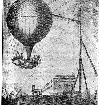 Un ballon au dessus de Nantes en 1783