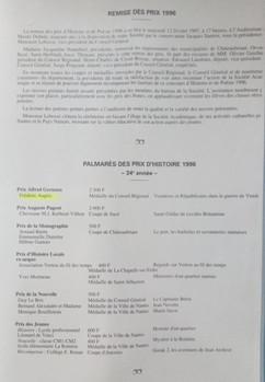 Prix Alfred Gernoux et médaille de région