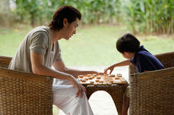 Jeu d'échecs en jouant