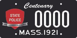 MSP Anniversary license plate.jpg