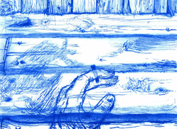 Blue Drawing