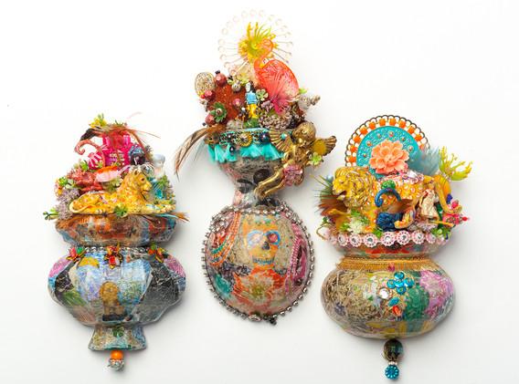 3 Small Wall Shrines