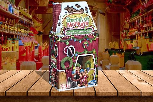 Hasbro Barrel of Monkeys Game - Candy Cane Edition
